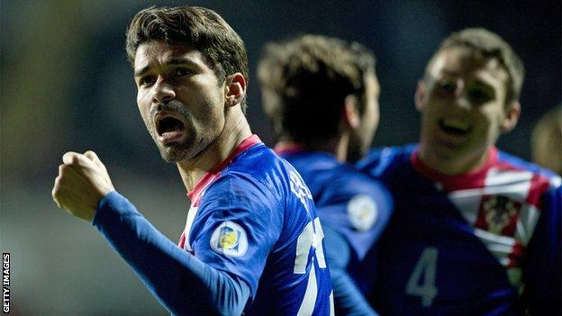 Croatian striker Eduardo