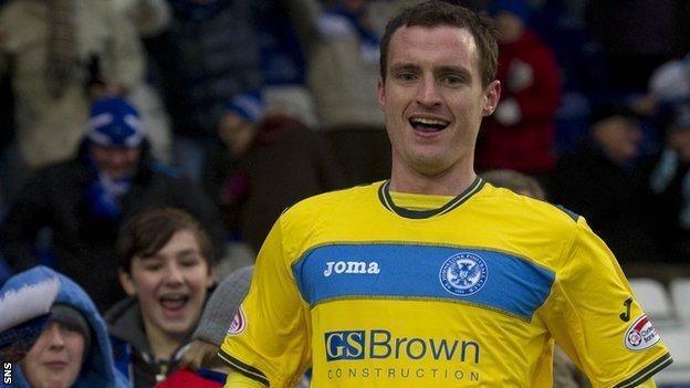 St Johnstone midfielder David Robertson