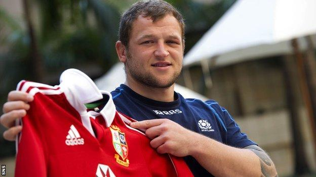 Scotland prop Ryan Grant
