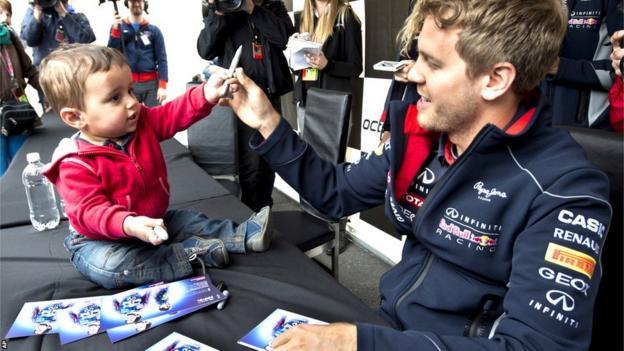 Felix Lamarche and Sebastian Vettel