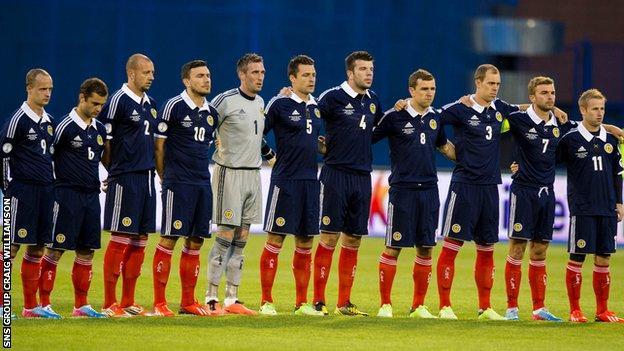 Scotland were surprise 1-0 winners in Croatia