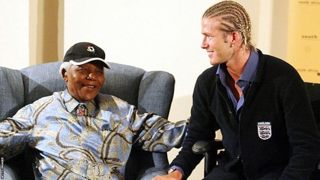 Nelson Mandela and David Beckham
