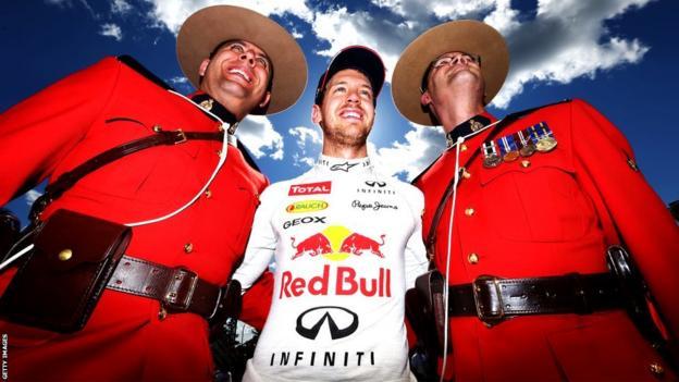 Sebastian Vettel and Canadian Mounties