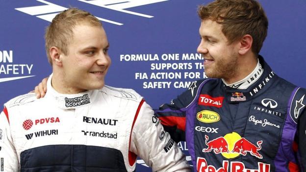 Valtteri Bottas and Sebastian Vettel