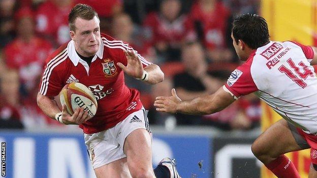 Lions full-back Stuart Hogg