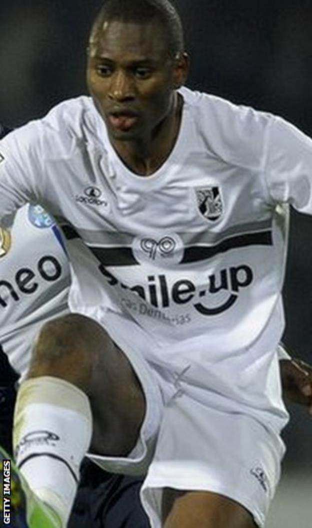 Amido Balde in action for Vitoria Guimaraes