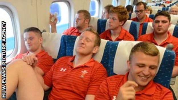 Wales take the bullet train from Osaka to Tokyo