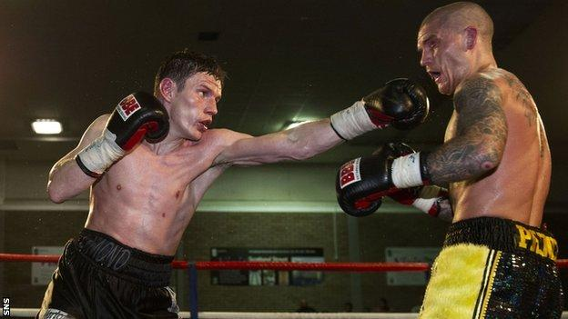 Scottish boxer Willie Limond