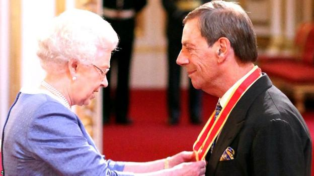 The Queen knights Henry Cecil