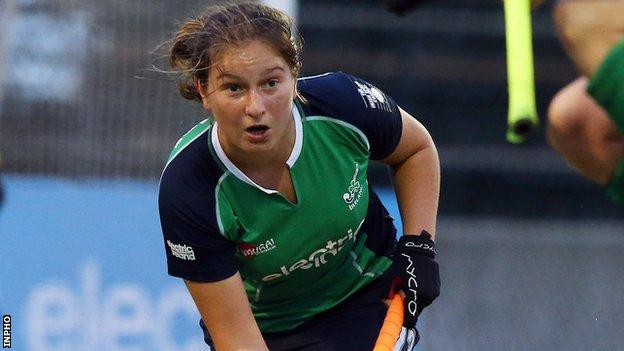 Niamh Atcheler scored twice for Ireland