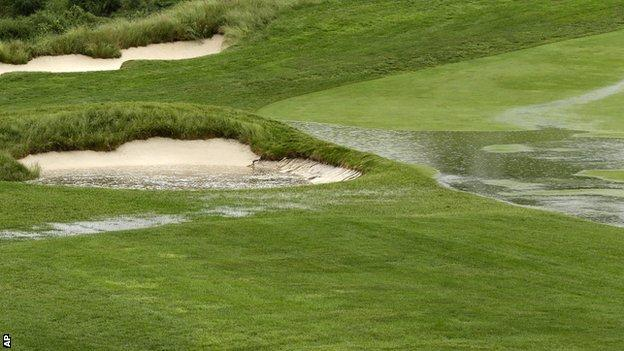 A waterlogged Merion