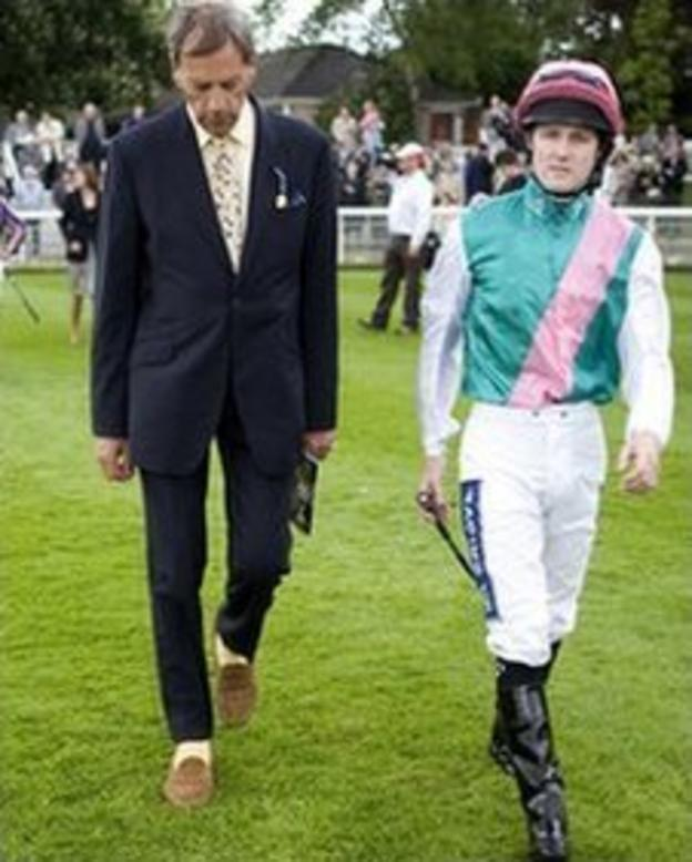 Sir Henry Cecil with Tom Queally