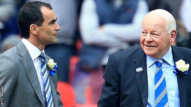Roberto Martinez and Dave Whelan