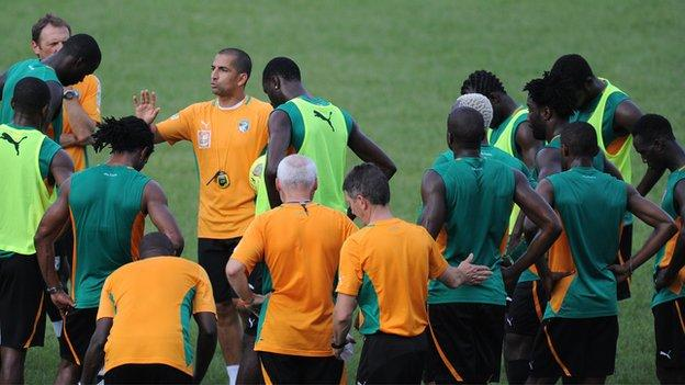 Ivory Coast in training in Tanzania