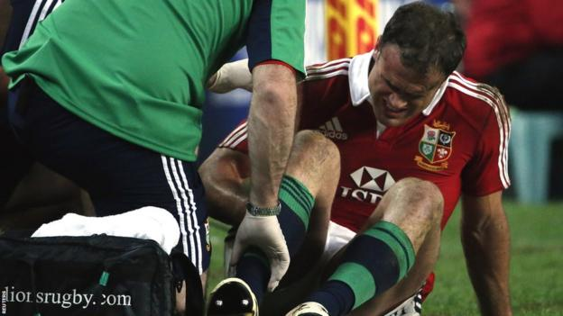 The only minus point from the Lions' win over the Waratahs is a suspected hamstring injury to centre Jamie Roberts