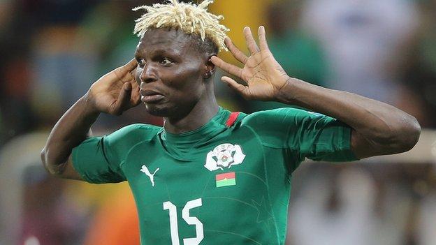 Burkina Faso striker Aristide Bance