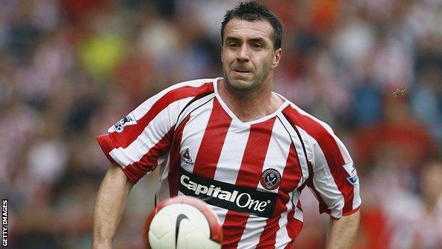 David Unsworth in action for Sheffield United