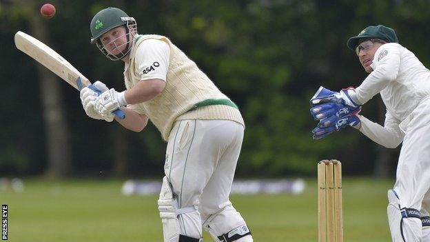Paul Stirling on his way to a century at Stormont