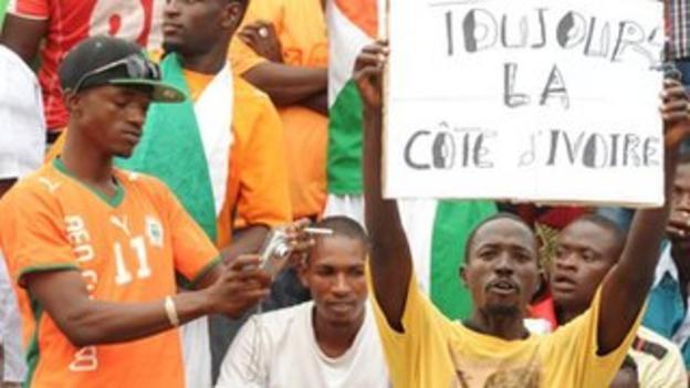 Ivory Coast football fans