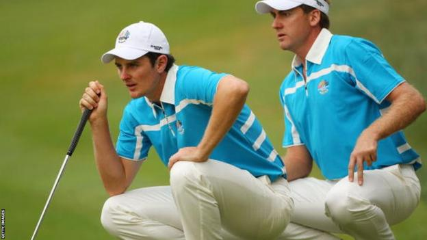 Justin Rose (left) with Ian Poulter
