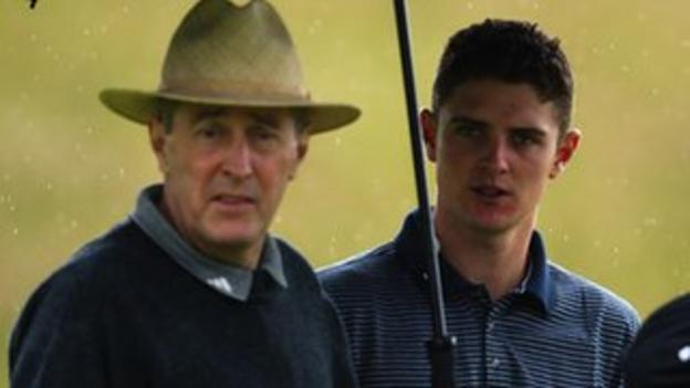 Justin Rose (right) and his father Ken in July 2002