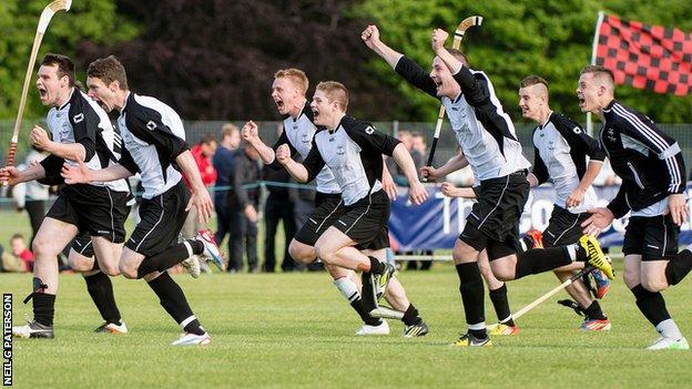 Lovat celebrate their MacTavish Cup success
