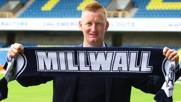 Millwall manager Steve Lomas