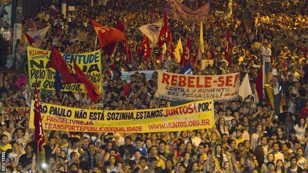 Protests have rocked Brazil