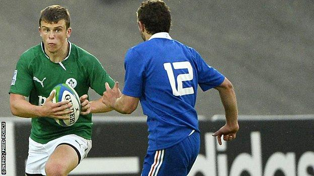 Rory Scannell in action for Ireland against France