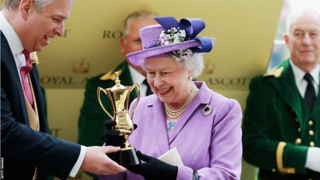 Prince Andrew and The Queen