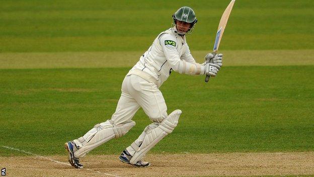 Worcestershire batsman Matthew Pardoe