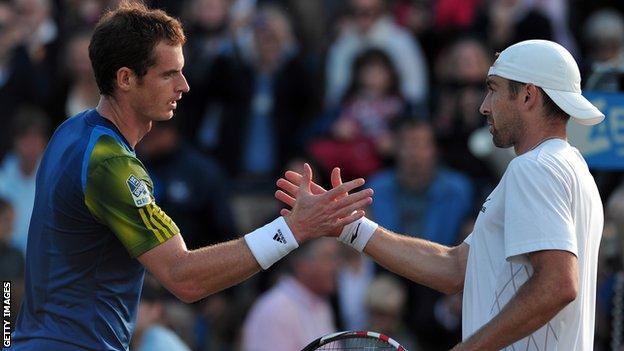 Andy Murray and Benjamin Becker