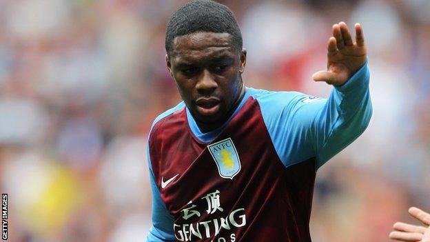 Aston Villa player Charles N'Zogbia