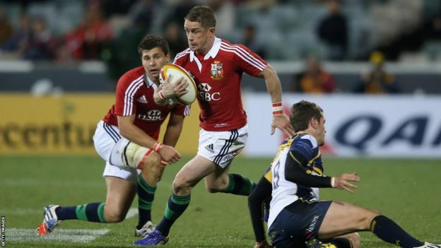 Shock 2013 British and Irish Lions call-up Shane Williams makes a break in their 14-12 defeat by the Brumbies in Canberra
