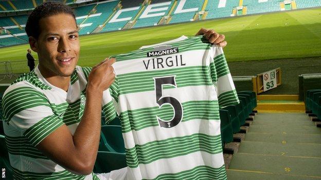 Celtic defender Virgil van Dijk