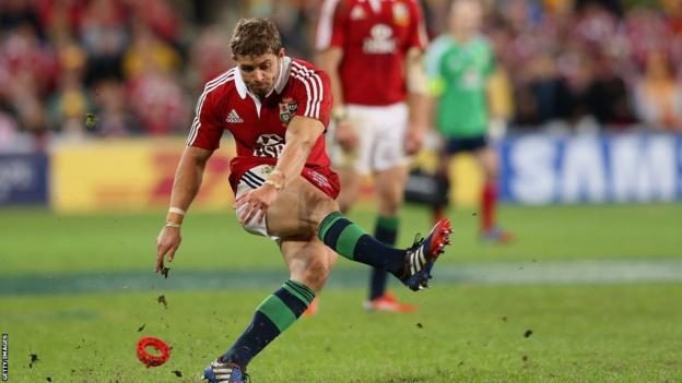 Leigh Halfpenny is reliable with the boot for the Lions