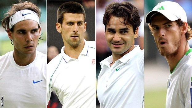Rafa Nadal, Novak Djokovic, Roger Federer and Andy Murray
