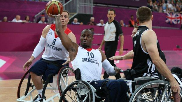 GB captain Abdi Jama in action during the London Paralympics