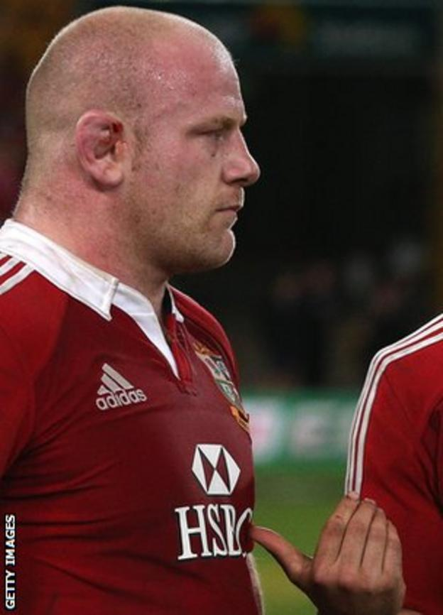 Lions prop Dan Cole looks none too happy after the final whistle in Brisbane