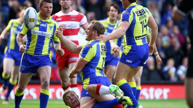 Ben Westwood celebrates a thrilling try