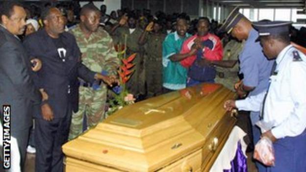 Marc-Vivean Foe's funeral