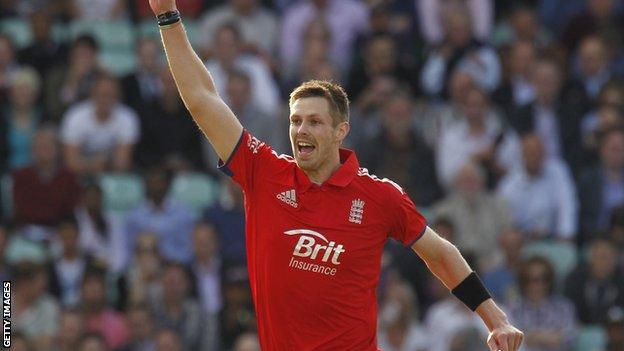 Boyd Rankin on England debut