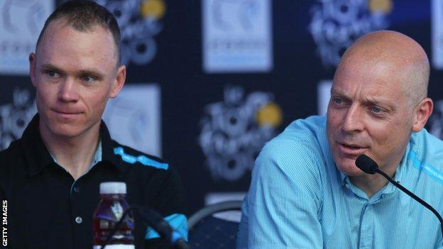 Chris Froome and Sir Dave Brailsford