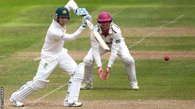 Australia captain Michael Clarke back in action against Somerset