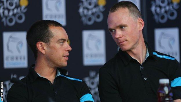 Richie Porte Chris Froome