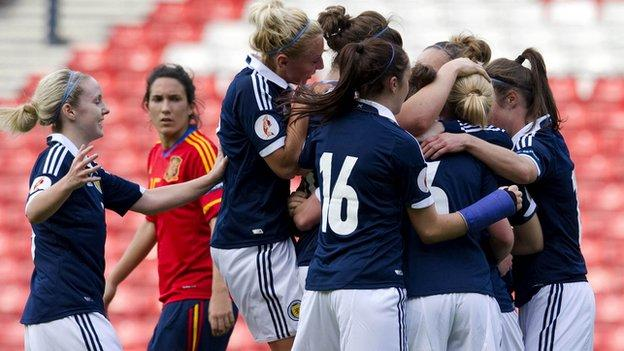 Scotland lost a play-off with Spain for a place at Euro 2013