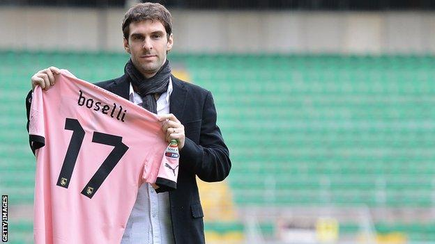 Wigan's Mauro Boselli who finished the season on loan at Palermo