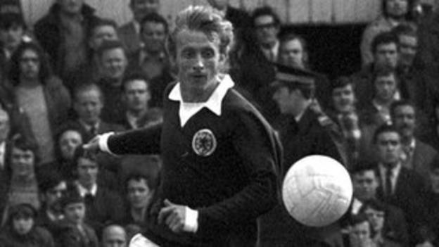 Scotland striker Denis Law