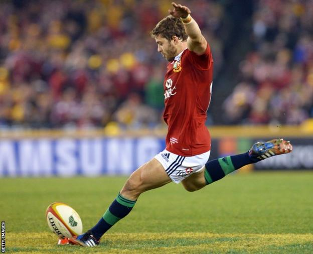 Wales full-back Halfpenny missed a last gasp penalty that would have secured victory and the series for the Lions