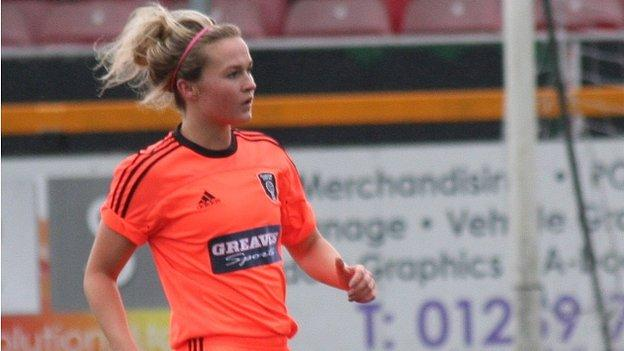 Glasgow City player Emily Thomson